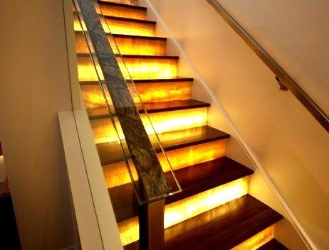 Lit Onyx Stairway