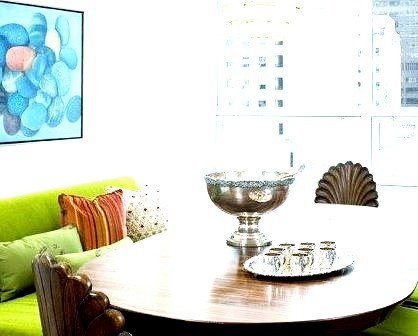 A Twist To A Traditional Dining Area